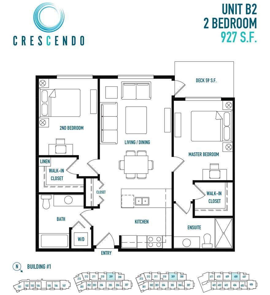 209 14550 WINTER CRESCENT, 2 bed, 2 bath, at $549,900